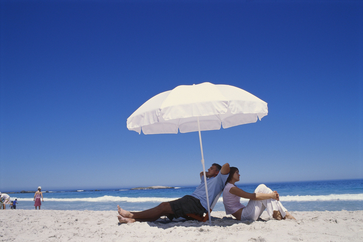beach umbrella for sun protection